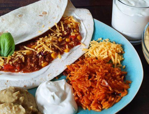 leckere Enchiladas mit Hackfleisch